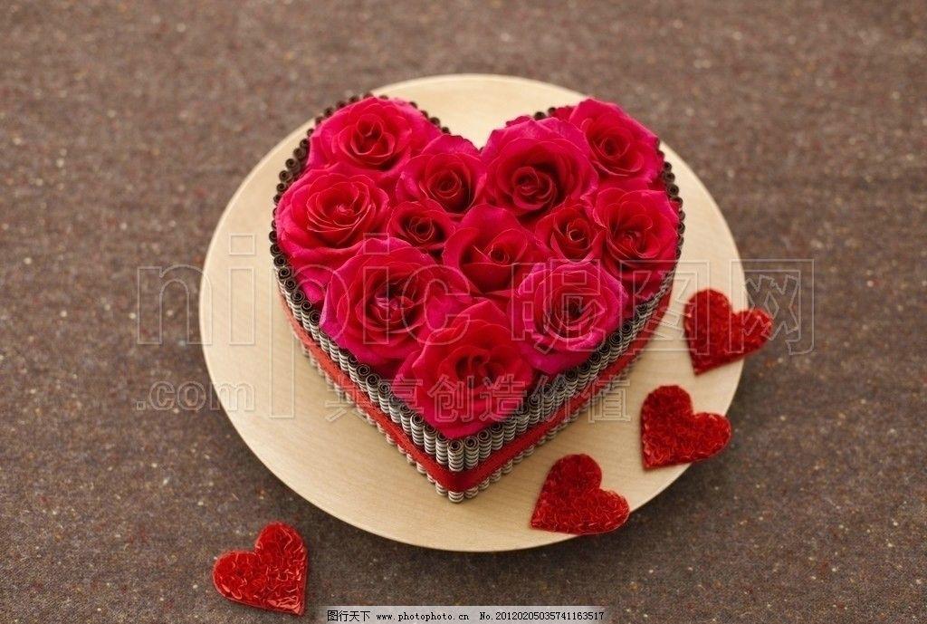 玫瑰花 心形玫瑰花 心形花朵