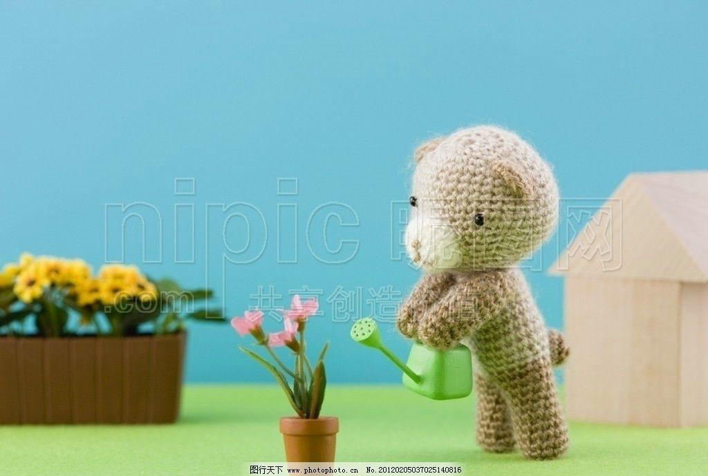 可爱小熊 毛绒小熊 毛织小熊 小毛熊 毛绒公仔 毛公仔 毛线玩具