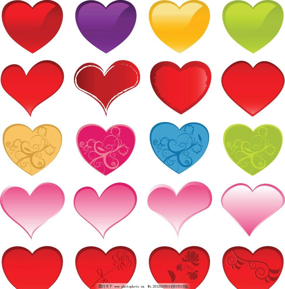 情人节矢量素材 心形背景 七夕 欧式情人节 美丽情人节 花纹 花边