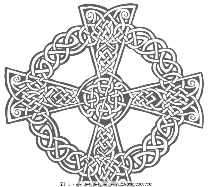 花边 ai 黑色 装饰 源文件 花形 圆形 十字架 边框 底纹 素材 花纹