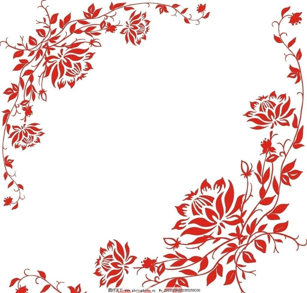 花蔓 花 叶子 花纹花边 底纹边框 矢量 cdr