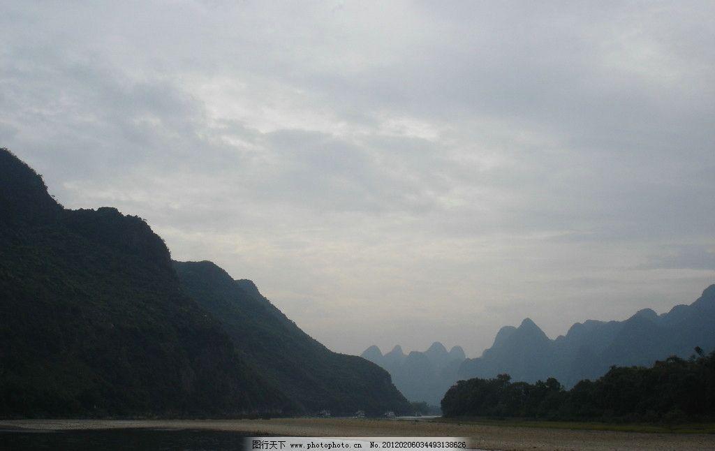 照片 桂林 漓江 山水 天空 旅游 水面 喀斯特地貌 山区 国家风景区