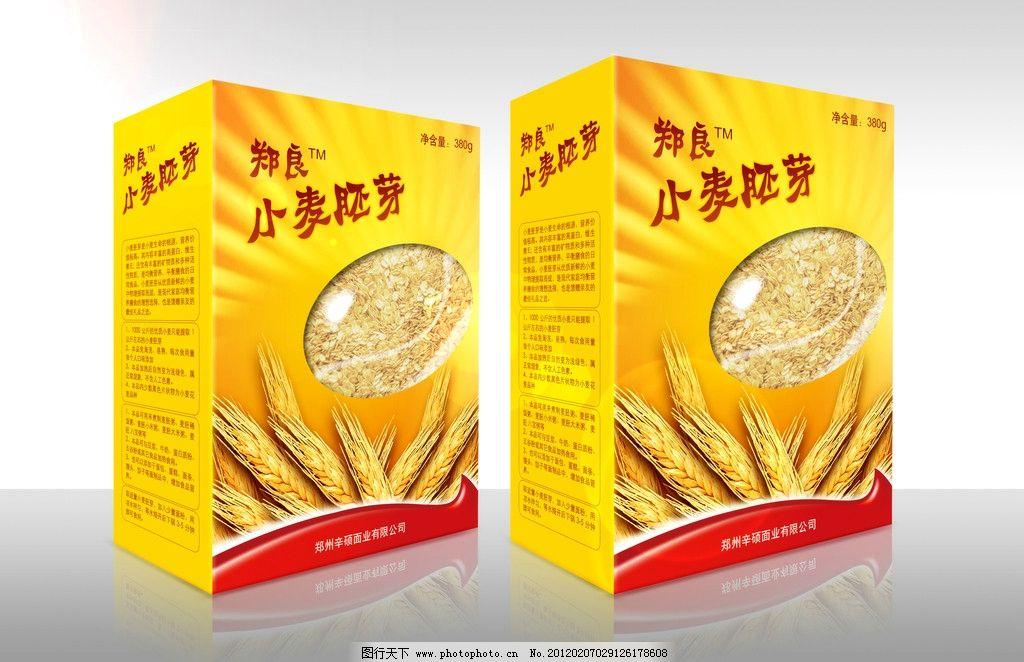 小麦包装 包装盒 麦片 金色 包装设计 广告设计模板 源文件