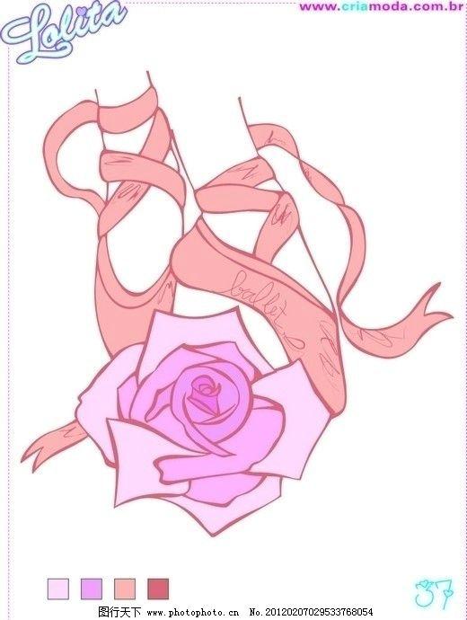 玫瑰和舞蹈鞋 玫瑰 舞鞋 芭蕾舞 跳舞 舞蹈 矢量广告设计 广告设计 矢