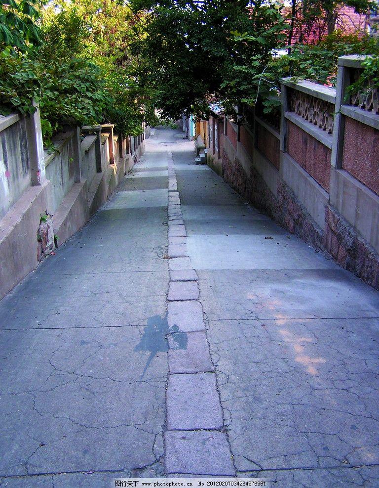 小路 青岛 景区 老城区 老市区 道路 幽静 休闲 人文景观 旅游摄影 摄