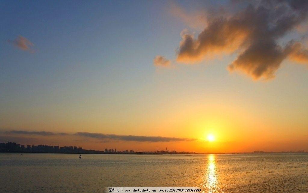 再见落日 落日 大海 自然风景 自然景观 摄影 350dpi jpg