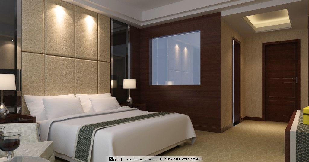 豪华酒店卧室效果图图片