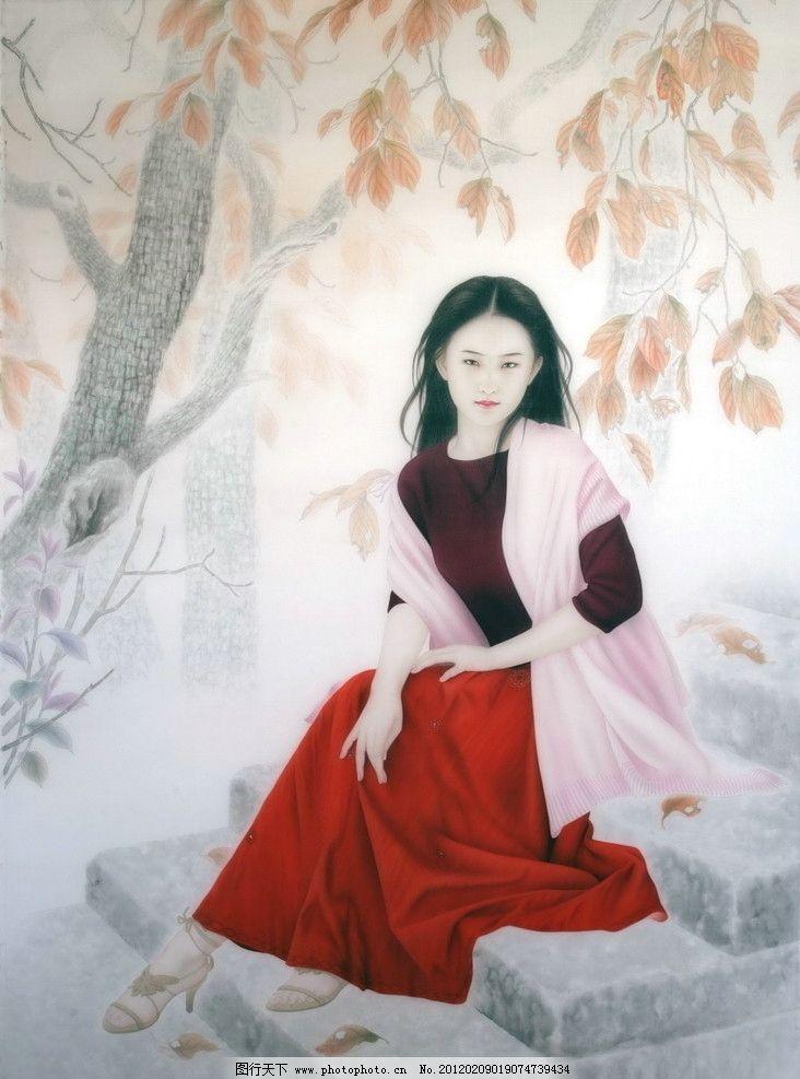 谢呈祥工笔画作品 艺术 绘画 美女 绘画书法 文化艺术 设计 72dpi jpg
