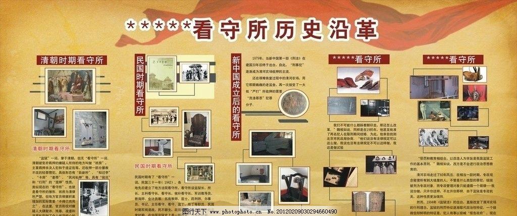 历史沿革 历史 图片排版 展板模板 广告设计 矢量 cdr