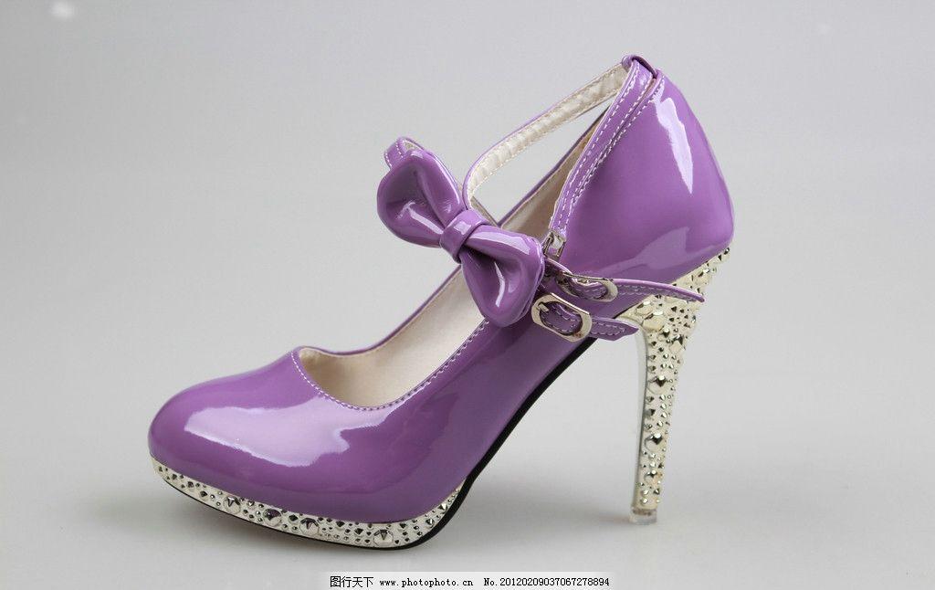 高跟鞋 鞋子 女鞋 时尚鞋 超高跟 尖头 浅口 搭扣 蝴蝶结 水钻