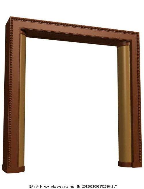 门套模型 欧式门套模型 欧式模型 欧式线条模型 欧式木线条 效果图