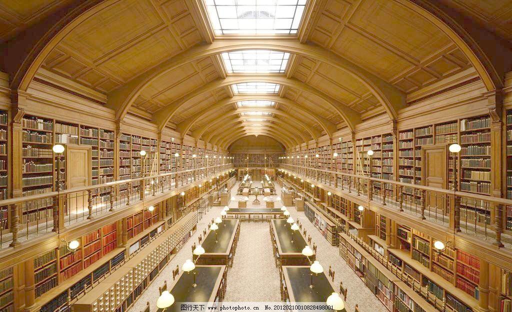 欧式图书馆图片