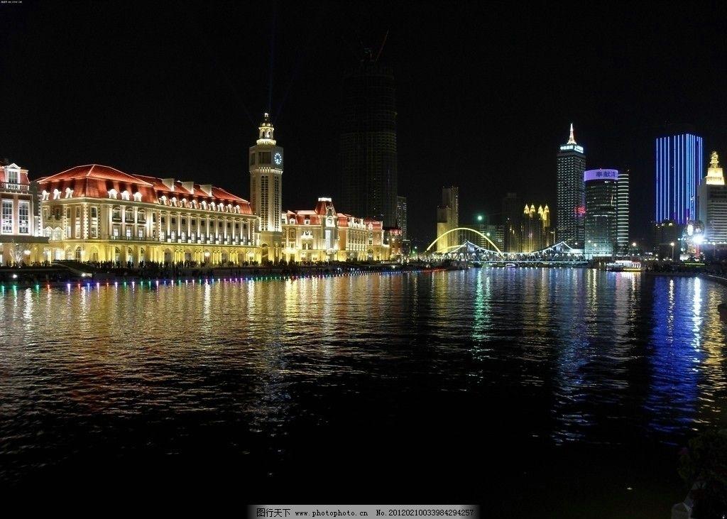沿海城市夜景