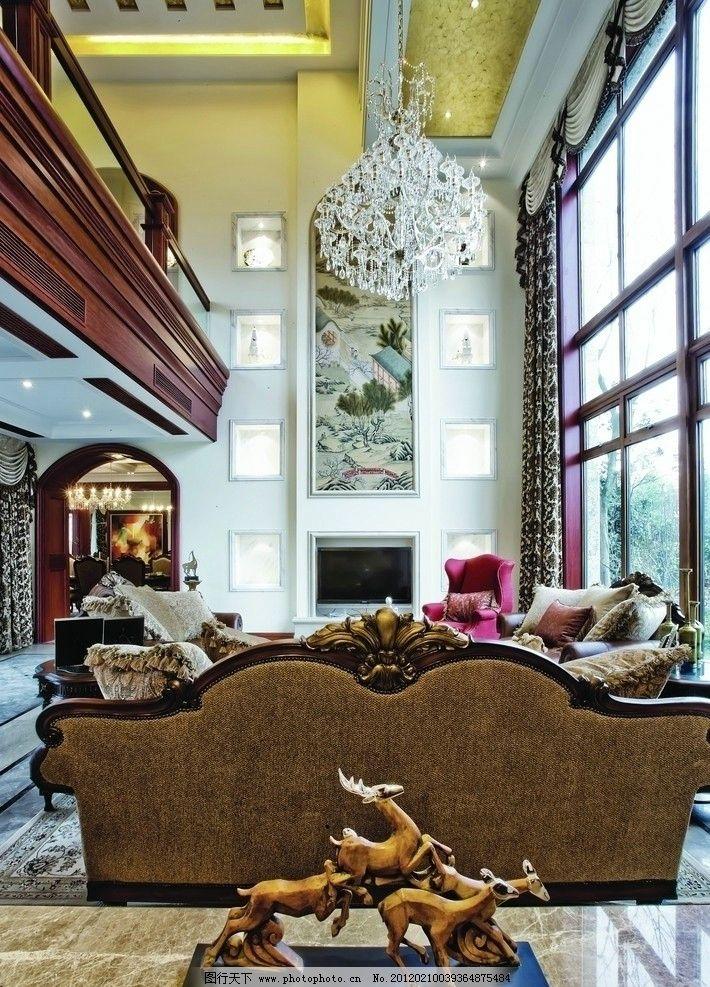 瓷磚墻面大廳江南風景