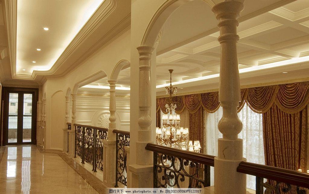 瓷砖墙面大厅江南风景