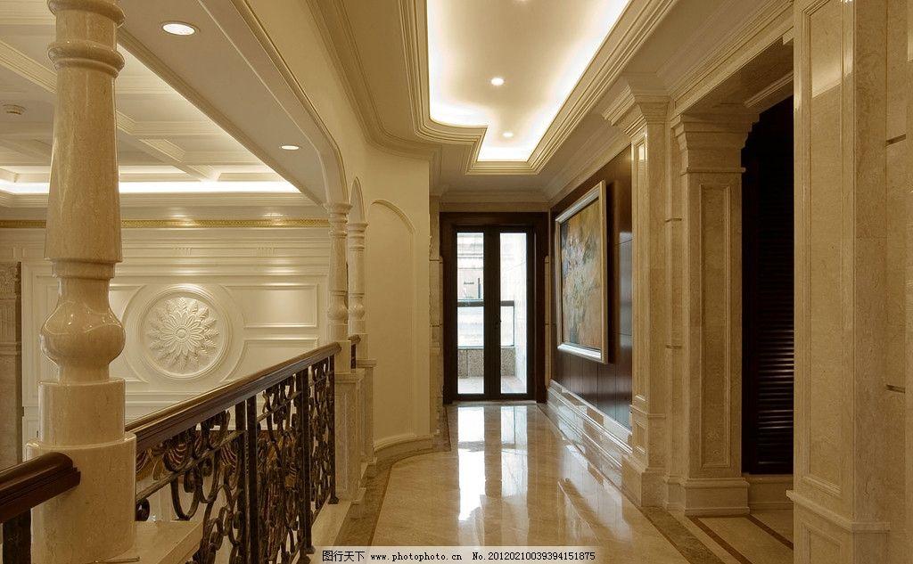 萧氏江南华府 大堂 大厅 别墅 复式 吊顶 石材 窗户 雅士白石图片