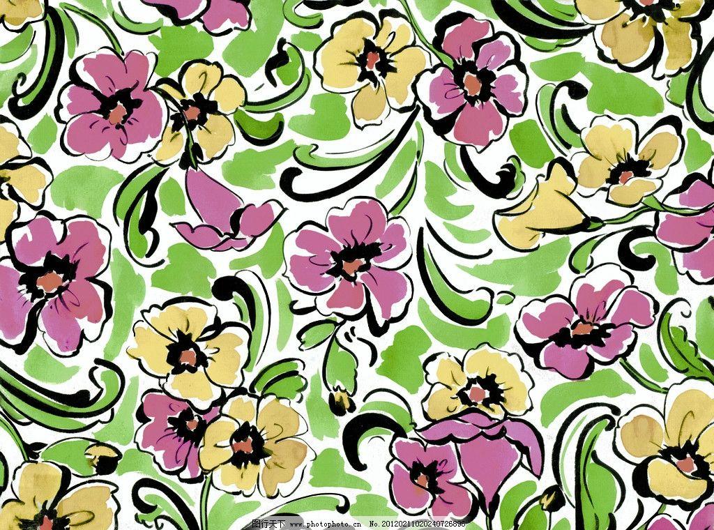 时尚花卉 水粉花卉 图案设计 时尚 花卉 图案 底纹 设计 花纹 背景