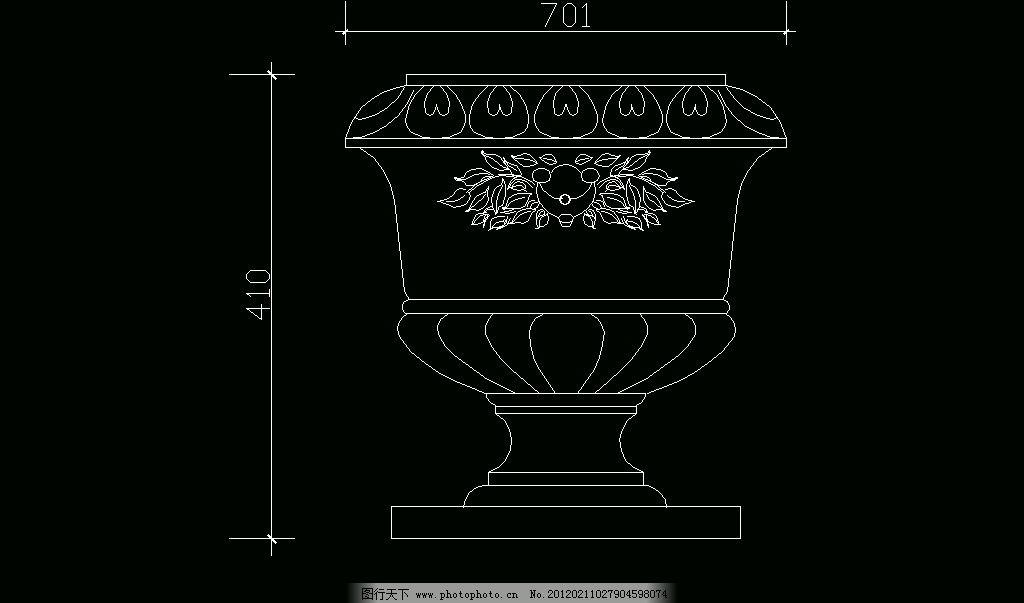 欧式构造 花盆图片