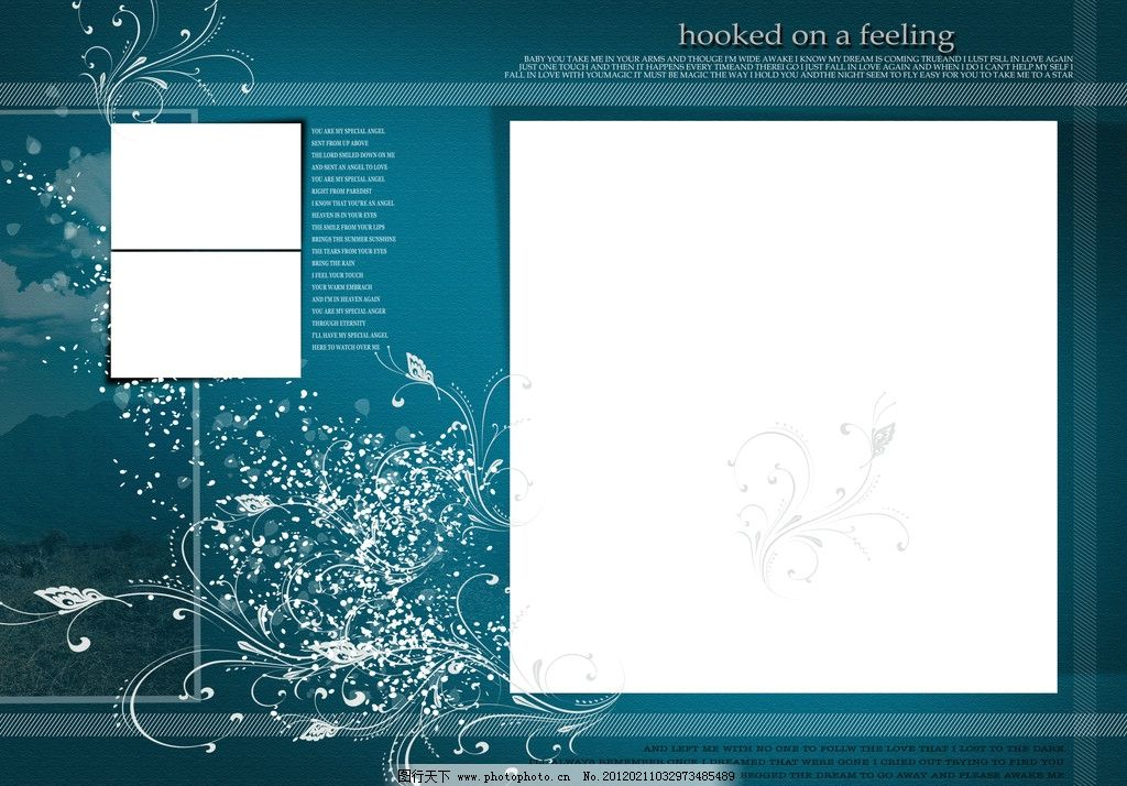 淡雅花纹相框 淡雅花纹边框相框psd分层模板图片 相框模板 反白花边