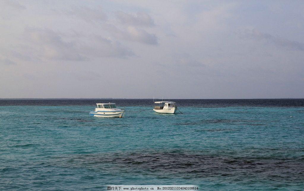船与海 大海 船 白色 蓝色 浪 马尔代夫 潜水胜地 国外旅游 旅游摄影