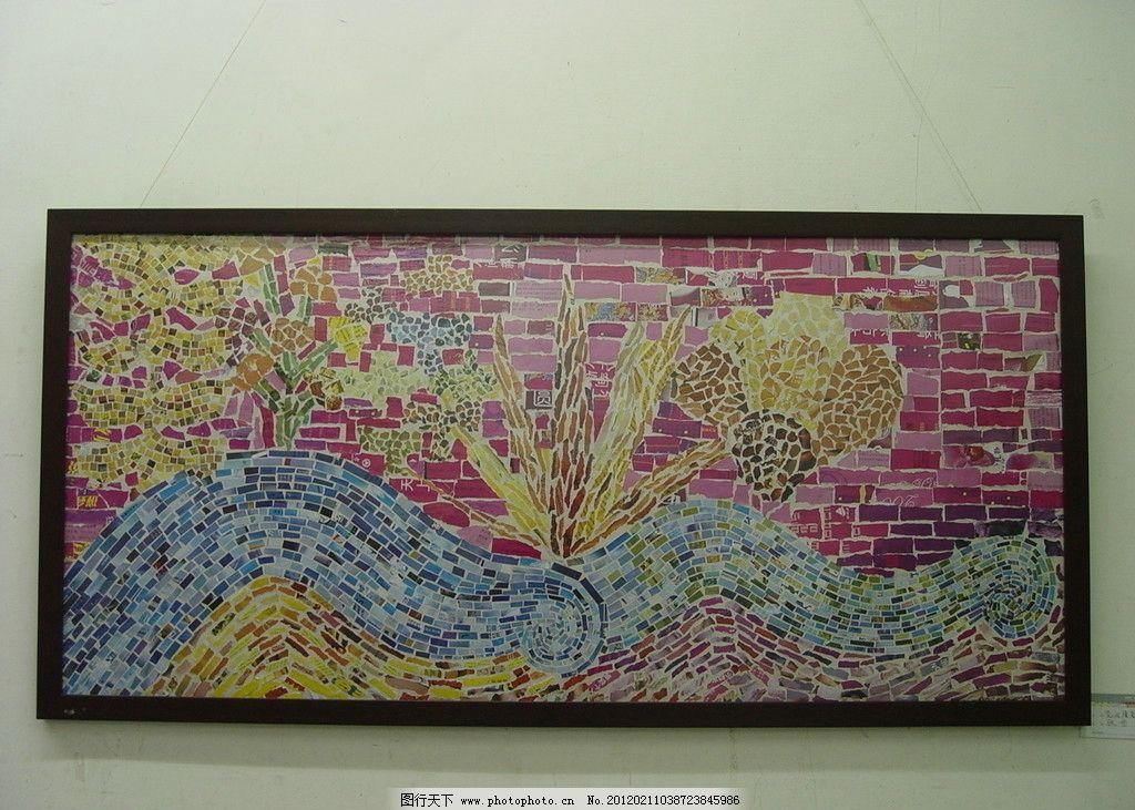 拼贴画 展览 画框 艺术 展厅 美术 美术绘画 文化艺术 摄影 72dpi jpg