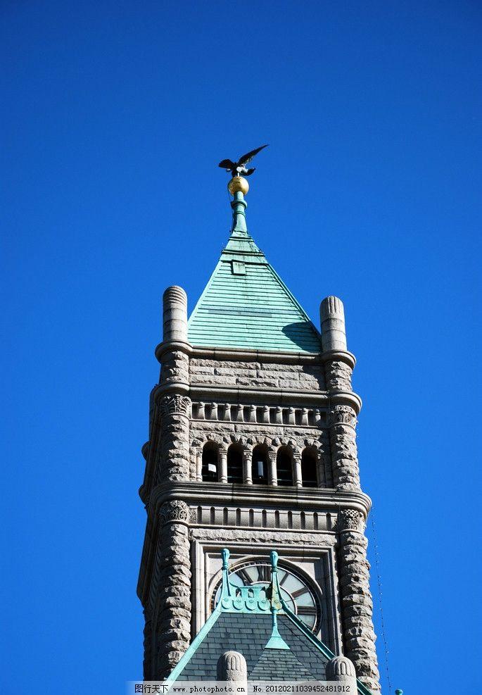 英国教堂钟塔图片