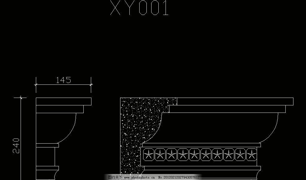 欧式构造 檐口线图片