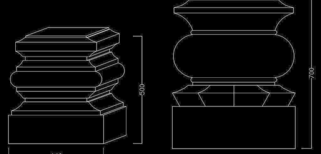 欧式构造 罗马柱之柱基图片