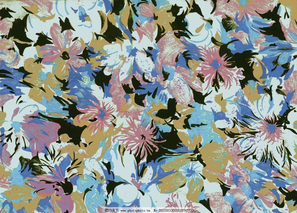 水粉花卉 图案设计 时尚花卉 底纹 背景底纹 底纹边框