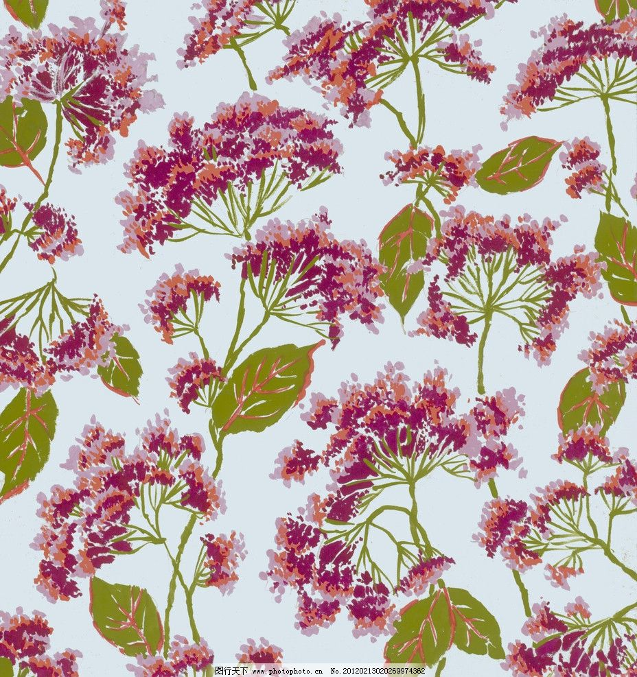 水粉花卉 图案设计 时尚 底纹 背景底纹 花纹 底纹边框