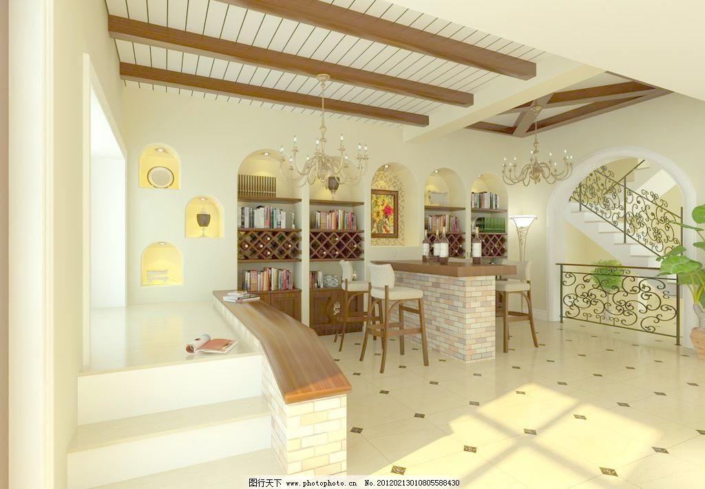 欧式别墅客厅图片