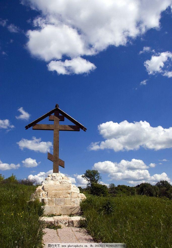 墓地风光 墓地 坟地 风景 风光 景色 墓碑 公墓 蓝天 白云 自然风景