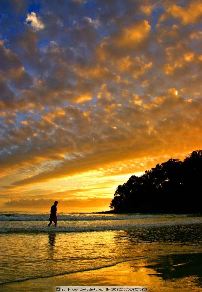 夕阳风光 夕阳 落日 黄昏 日出 海边 大海 海浪 风光方面素材 自然