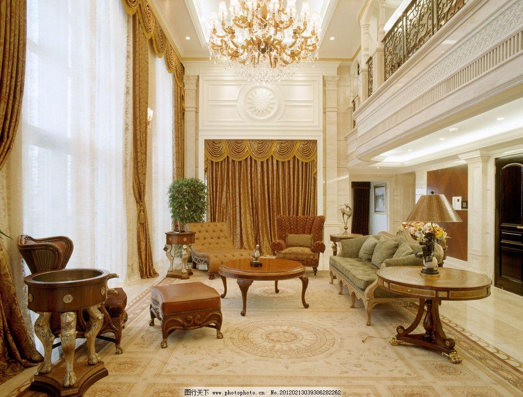 上海华府复式 大堂 大厅 别墅 吊灯 水晶灯 吊顶 石材 沙发图片