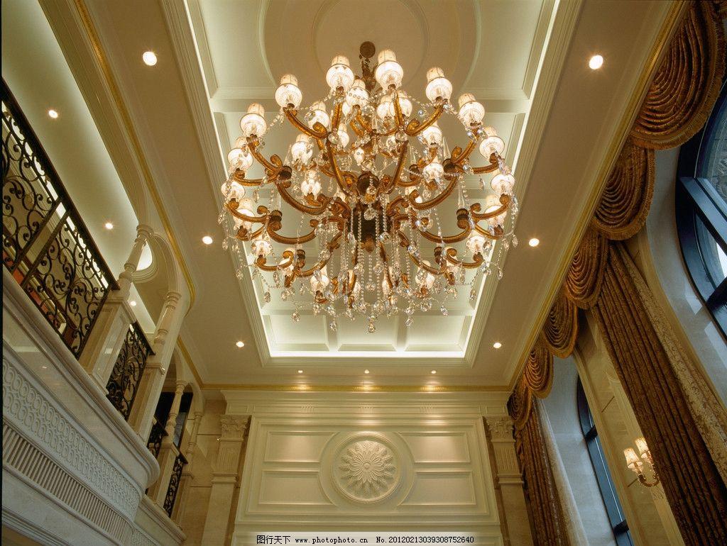 大堂 大厅 别墅 复式 吊灯 灯饰 水晶灯 欧式      楼梯 沙发 设计