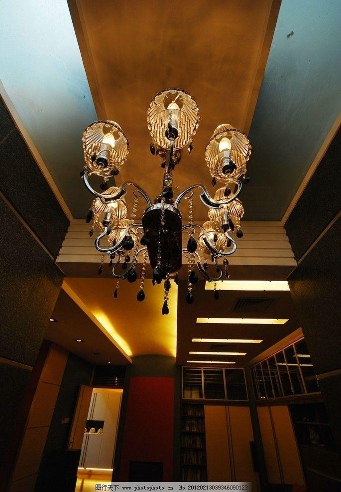 珠江别墅 大堂 大厅 复式 吊灯 灯饰 水晶灯 欧式 客厅 楼梯