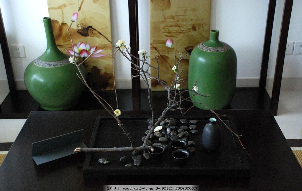 中式装修 艺术品      瓷器 古典 古董 青瓷 装修 室内装修 意境 树枝