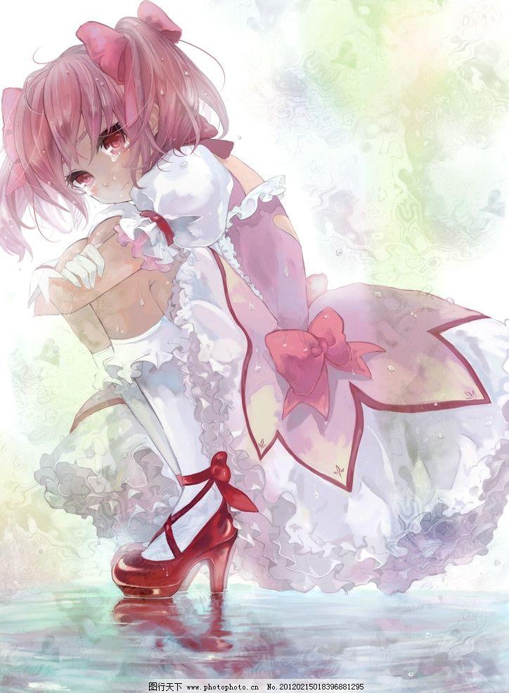 动漫美女 萌 可爱 裙子 唯美 华丽 清爽 长发 性感 紫色 完美