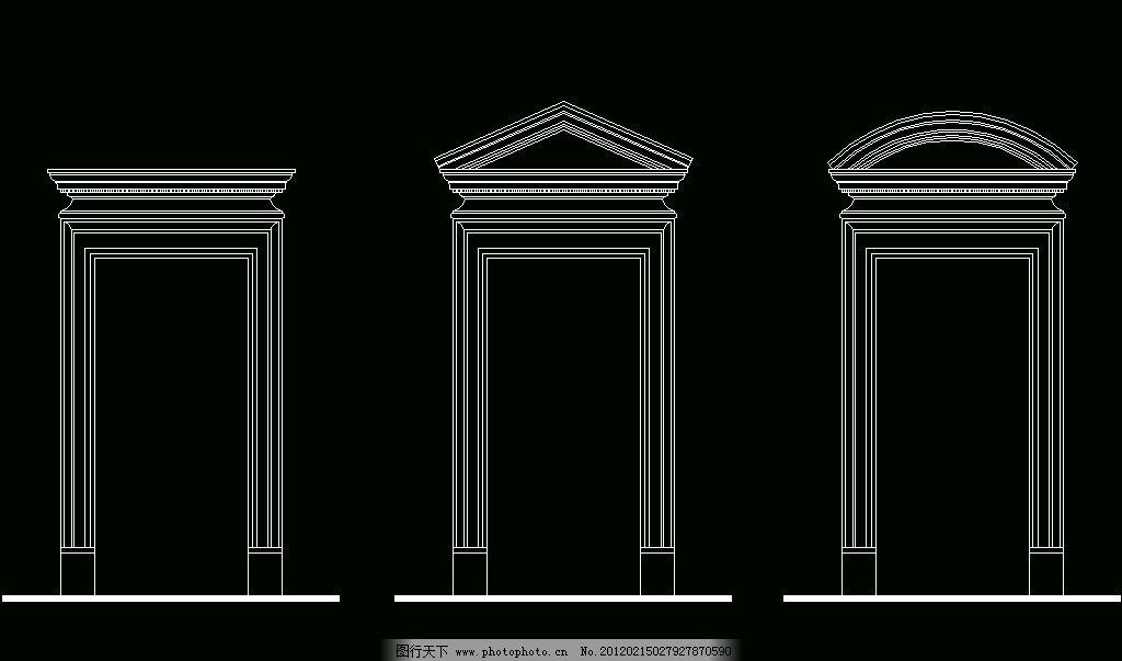 欧式构造 四方门套 建筑风格 欧式 古典 西式 室内设计 构件 装修
