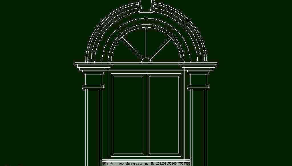 建筑风格 欧式 室内设计 西式 源文件 装饰 装修 欧式构造 拱窗套素材