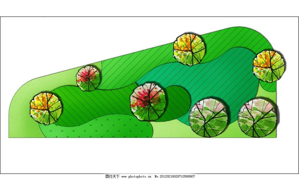 植物配置图 绿化 植物配置 平面图 植物造景 种植设计 园林设计 环境