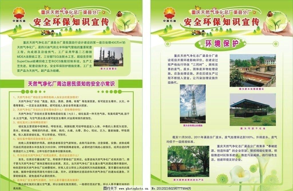 安全环保知识宣传 安全 环保 天然气净化总厂 安全小常识 广告设计