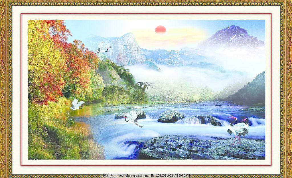 风景画 红日 鸿运当头 其他 山水 山水风景 风景画素材下载 风景画