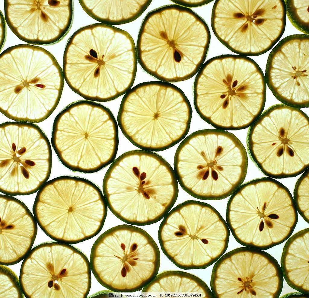 柠檬切片背景图片