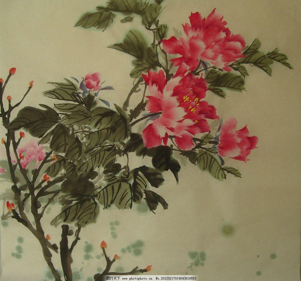牡丹 中国画 牡丹花 绘画书法 文化艺术 设计 72dpi jpg