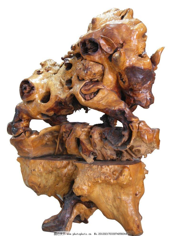 木雕 雕刻 木头 根雕 牛 褐色 公牛 艺术品 雕刻艺术 源文件