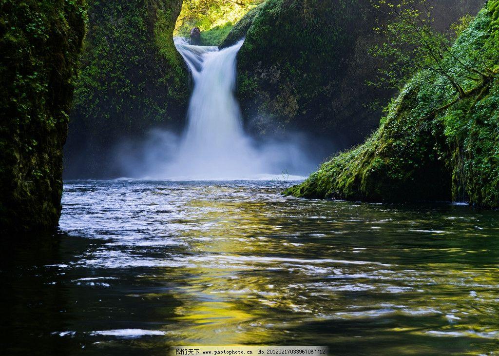 山水瀑布图片,风景画 桂林山水 高山流水 装饰画 壁画