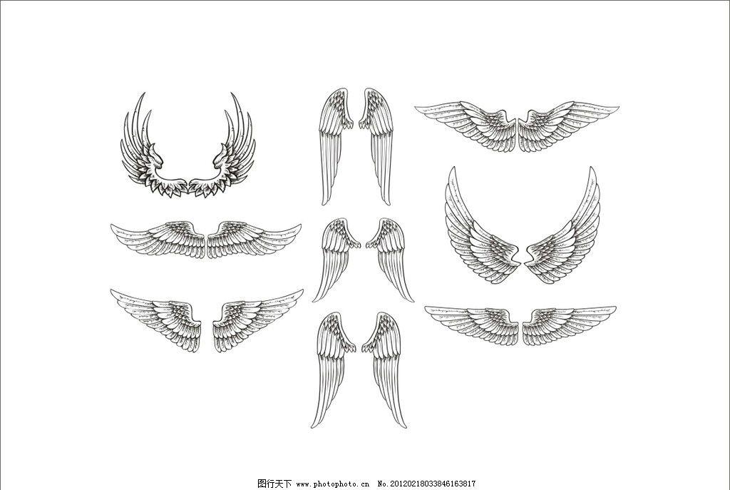 天使的翅膀矢量图图片