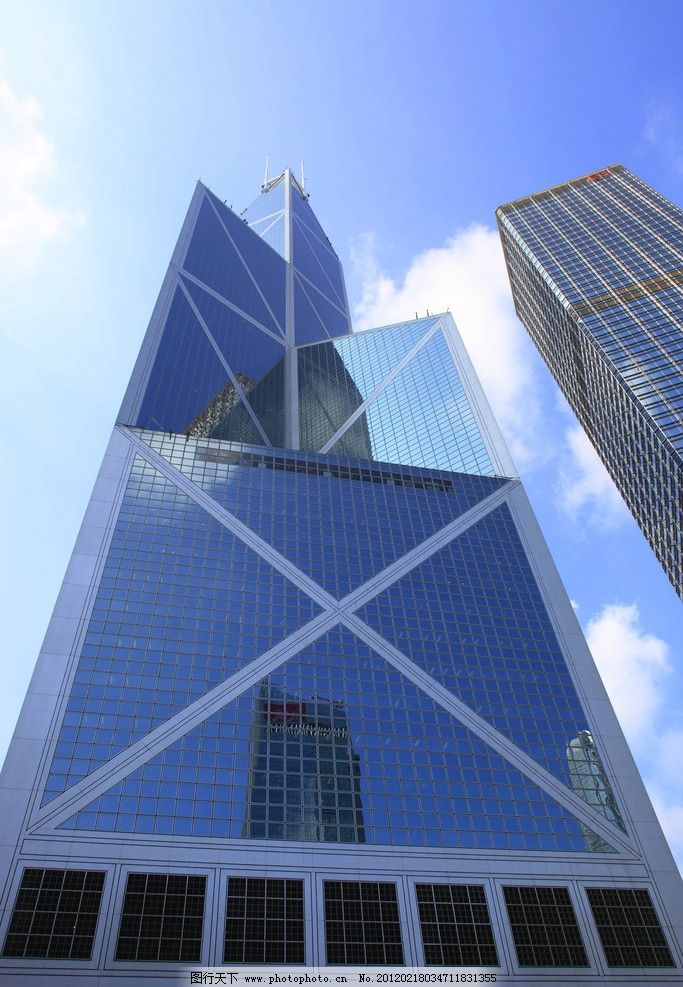 香港中银大厦 建筑 城市 高楼 楼房 蓝天 旅游摄影 城市高清图片