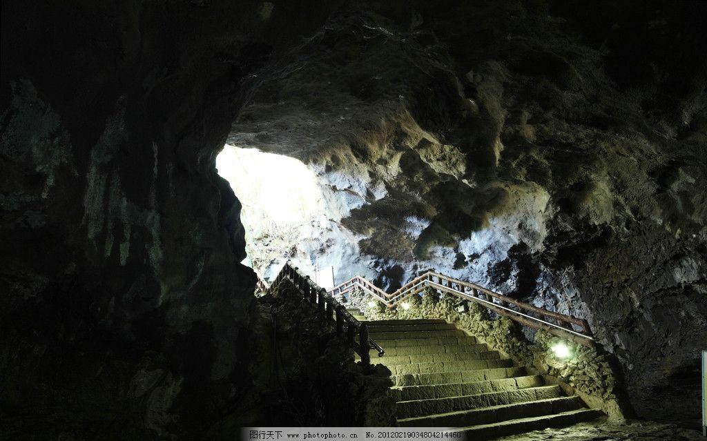 韩国济州岛万丈窟洞穴图片